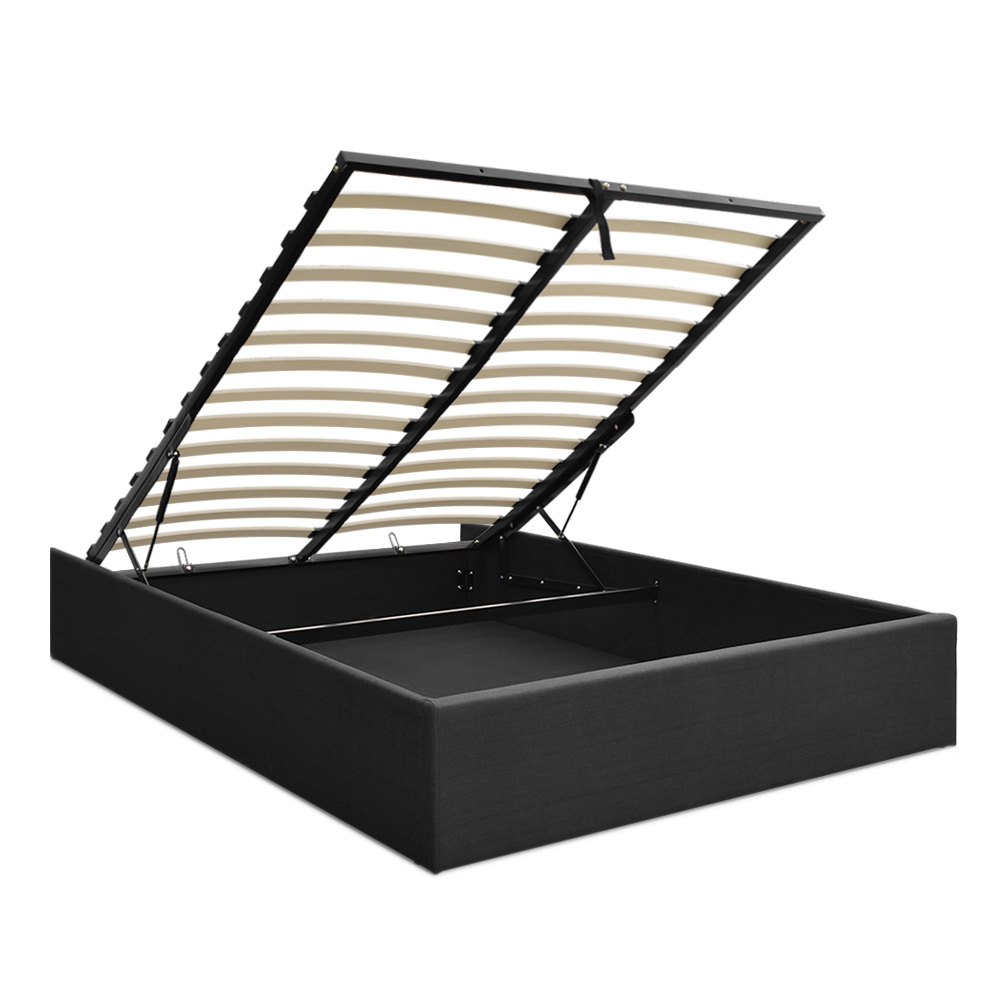 Artiss Toki Queen Size Storage Gas Lift Bed Frame Without