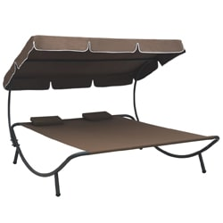 Sun Lounger with Canopy